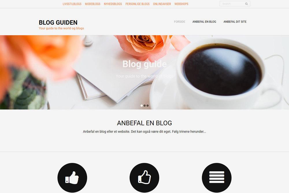Sådan fungerer Blog Guiden